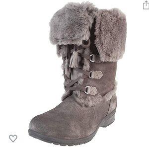 Khombu Russia 3 Shearling Gray Suede Winter Boot